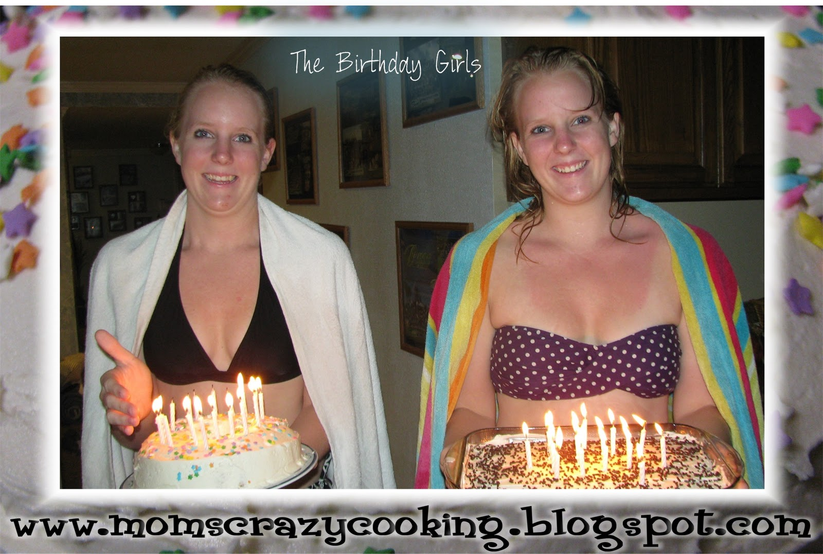 MOMS CRAZY COOKING: Twins Birthday Party = TWO Cakes