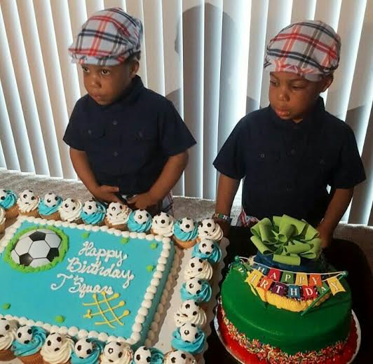 Photos: Actress Taiwo Aromokun throws a birthday party for her stylish twin  boys